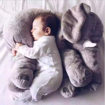 Elephant Doll Pillow Soft Plush Stuff Toys Lumbar For Baby Kids Grey - intl Price Philippines