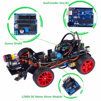 Harga SunFounder Smart Robot Car Kit For Arduino UNO R3 - intl