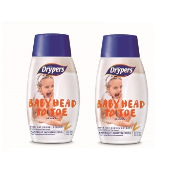 Harga Drypers Baby Head to Toe 220ml Pack of 2