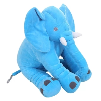 Hanyu Baby Kids Toddler Stuffed Elephant Plush Pillow Cushion Soft Nursery Toy Doll For Girls Children Gifts (Blue) - intl Price Philippines