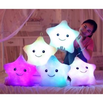 LED colorful lights *PURPLE star pillow baby stuffed plush toys Price Philippines