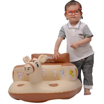 Harga EOZY Baby Inflatable Sofa Thickened Chair Portable Bath Seat - intl