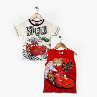 Harga Cars Boys 2-Piece Cars Graphic Tee Set (2T)