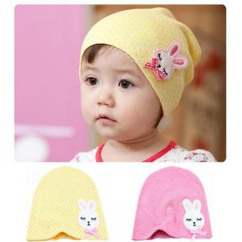 Harga Lovely 2 Pcs Baby Girls Cotton Hat Bow Cartoon Rabbit
