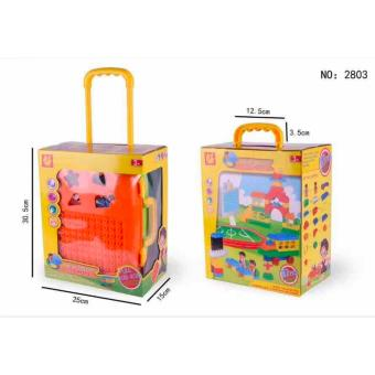 New Shop Hong Kong Educational Luggage Building Blocks Toy (Orange) Price Philippines