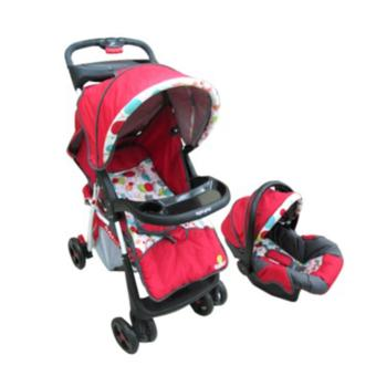 Harga Apruva Travel System Stroller with Carrier SD-12, RED