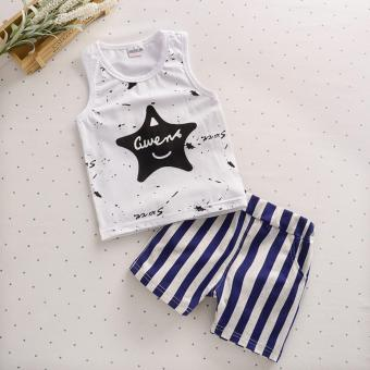 Bear Fashion Baby Boys Clothing Kids Summer Star Clothes 2pcs Set Suit - intl Price Philippines