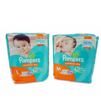 Pampers Comfort (M) 22's, Pampers Comfort (L) 20's 720229 Price Philippines