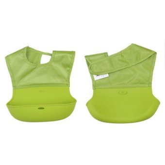 Harga Baby Waterproof Bibs Food Pocket Bibs Green - intl