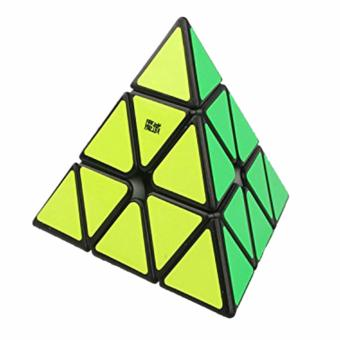 Harga MoYu Pyraminx Triangle Pyramid Rubik's Speed Magnetic Positioning Black Body Magic Cube YJ8244