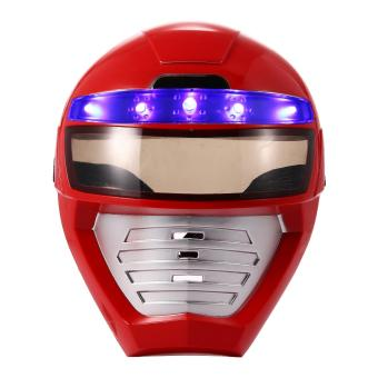 MOON STORE Light Up LED Mask--Unique Kids Dress Up Role Play Costume Pretend Play Power Rangers Red Power Ranger - intl Price Philippines