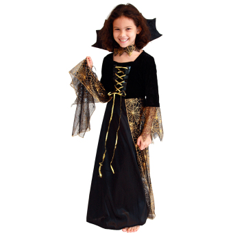 Harga EOZY Girls Witch Spider Dress Halloween Cosplay Costume Kids Dance Costumes Performance Clothing -M