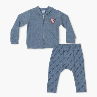 Harga Crib Couture Boys Daddy's Music Buddy Hoodie and Meggings Set (Blue)