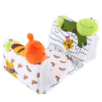 Infant Pillow Anti Roll Newborn Baby Sleeping Positioner Frog -intl