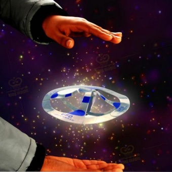 Interesting Mystery UFO Floating Flying Disk Hovers Saucer MagicTrick Toy - intl