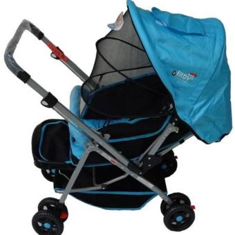 IRDY 829A 3- ways stroller w/ 8 wheels reversible handle w/mosquito net (blue)
