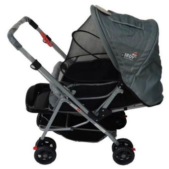 IRDY 829A 3- ways stroller w/ 8 wheels reversible handle w/mosquito net (grey)