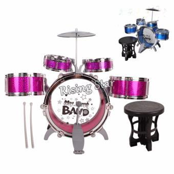 Jazz Drum Set With Chair Musical Toy Instrument for Kids NO. 4008E