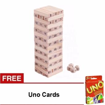Jenga with Uno Cards (New box)