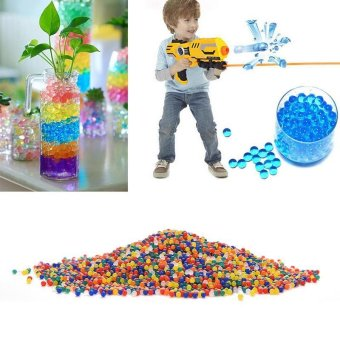 KCMALL 100bags Pearl Shape Soft Crystal Magic Jelly Balls Water Paintball Bullet Beads Grow Balls Water Toys Wedding Home Ornament Plant Cultivate Decoration (Multicolor) - intl
