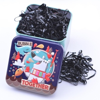 Kids Baby Girl's 700pcs Disposable Hair Ponytail Holder Hair TieElastic Rubber Bands with Lovely Storage Box Style:Black - intl Price Philippines