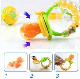 Kids Nipple Fresh Fruits Pacifier Feeder Feeding Safe Baby SuppliesTeat Bottles (Multicolor Size L) - intl