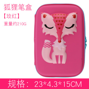 Korean-style female young student's pencil box stationery box