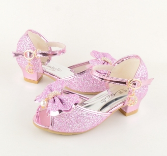 Korean-style New style summer small girl's high-heeled shoes sandals