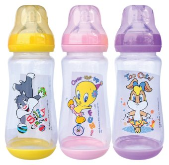 Looney Tunes 3pcs 12oz Wide Neck BPA Free Feeding Bottles (For Girls)
