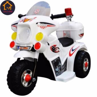 LOVE&HOME Rechargeable Motor Bike Kids Ride-on Toys Police Motorcycle (White)