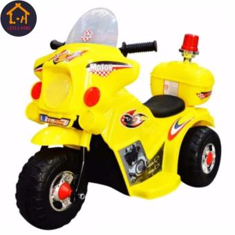 LOVE&HOME Rechargeable Motor Bike Kids Ride-on Toys Police Motorcycle (Yellow)