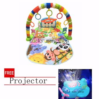 Lucky man Animal Discover 'n Grow Kick and Play Piano Gym with freeProjector Price Philippines
