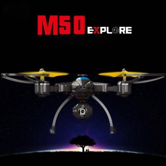 M50HW 24G Foldable RC Selfie Drone WiFi FPV 03MP Air PressAltitude Hold Black
