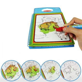 Magic Kids Water Drawing Book with 1 Magic Pen Intimate Coloring Book Water Painting Board for Children Drawing Learning - intl