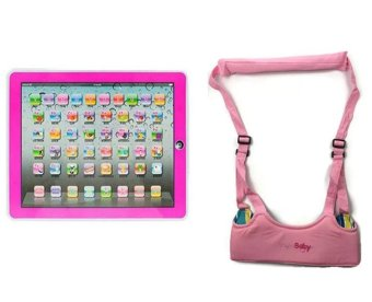 Magic Ypad Multimedia Learning Computer Toy Tool (Pink) Bundle withMoon Baby Safe Learning Walker (Pink) Price Philippines