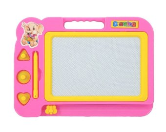 Magnetic drawing board painting graffiti erased learning(Pink) Price Philippines