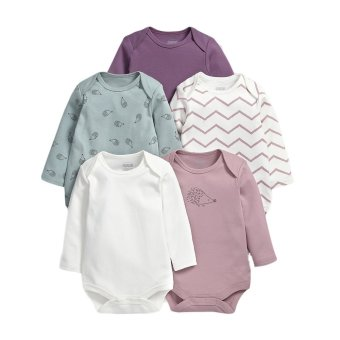 Mamas and Papas Hedgehog Bodysuit Set of 5 (Blue/Pink)