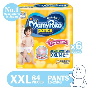 MamyPoko Pants Easy to Wear Diaper XXL 14's, Pack of 6