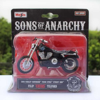 Mei Chi figure black alloy toys child motorcycle Toy Model