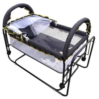 Metal crib and Cradle with Mosquito Net WB521 Blue Price Philippines