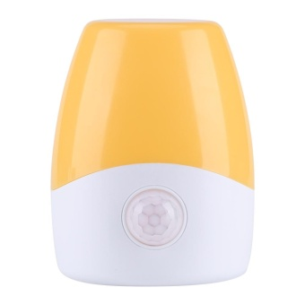 Mini Plug in LED Night Light Baby Children Bedside Lamp with RemoteController(Yellow Light) - intl Price Philippines
