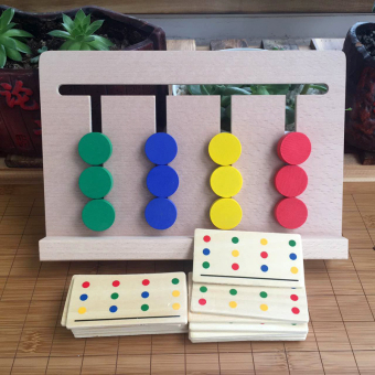 Montessori children's training game color maze
