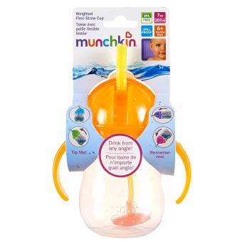 Munchkin Weighted Flexi Straw cup (orange)