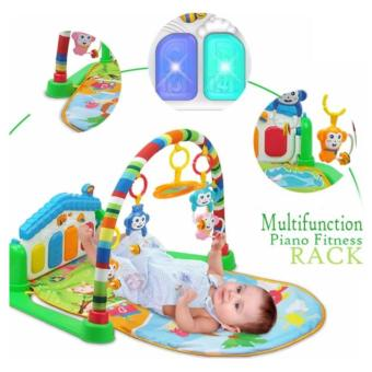 Music Intelligent Fitness Multifunction Baby Play Gym Mat with Piano Full Moon Gift for Newborn Best Birthday Gift for baby