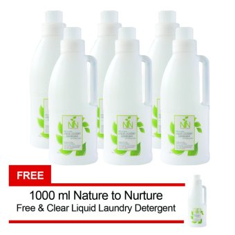Nature to Nurture Liquid Laundry Detergent Free & Clear 1000mlpack of 6 FREE 1