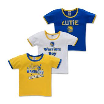 NBA Baby - 3-piece T-Shirt (Cutie-Warriors) - 100% cotton 6-9 Months