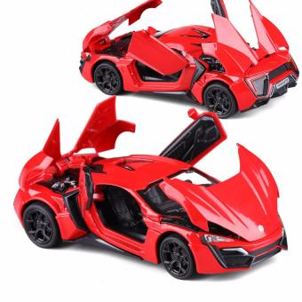 New Arrival 1:32 Lykan Hypersport Diecast Model Car with Light & Sounds,Door Opening-Red
