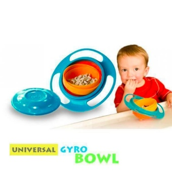 New Baby Kids No Mess Feeding No Spill Universal Gyro Bowl Price Philippines