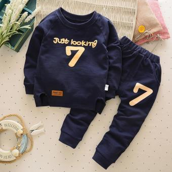 New Spring Cotton Baby Boy Clothing Long Sleeve T Shirts + PantsInfant Boys Sets Kids Clothes Tracksuits For NewbornChildren1-4Years Old Boys - intl