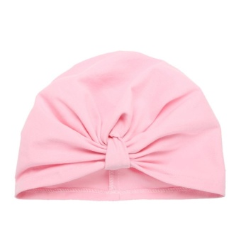Newborn Baby Infant Autumn Winter Warm Hat Boys Girls Soft Cap BowBeanie - intl